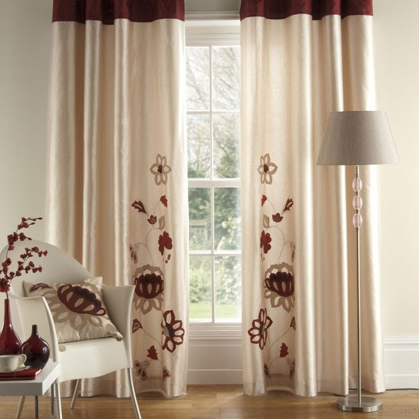 Modern Window Curtain With Flower Design: Modern Furniture: Luxury Modern Windows Curtains Design