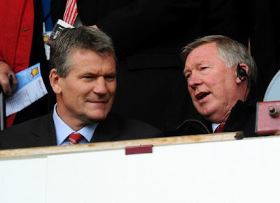 Chief Executive and Manager Manchester United : David Gill-Sir Alex Ferguson man utd vs west ham