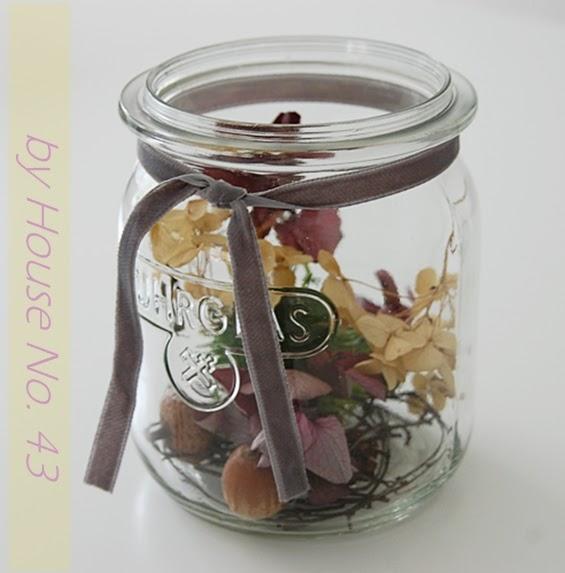 House no 43 erste herbstdeko im weckglas first autumn for Herbstdeko im glas
