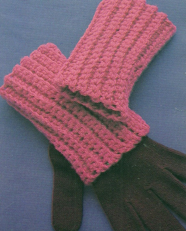 Todays Treasure Shop Talk: Easy Crochet Pattern for Wrist Warmers