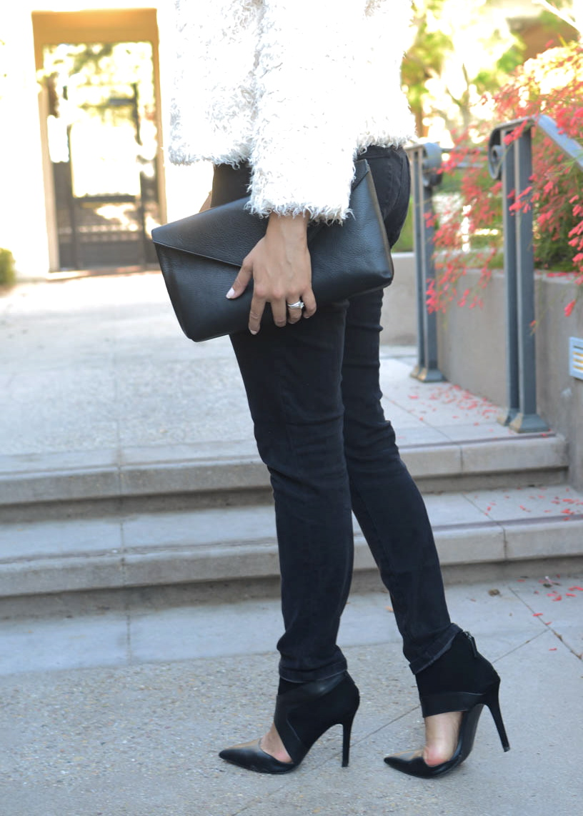 how to wear cutout booties, cabi clothing super skinny jeans, how to wear black skinny jeans, black skinny jeans