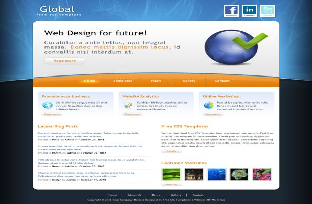 Small Business Abstract CSS Website Template