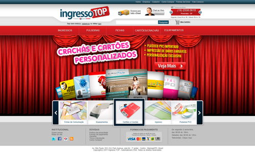 ingresso top - layout do site
