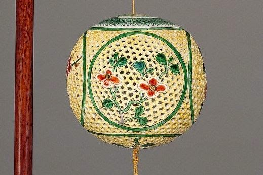 "<img src=""Kangxi Reticulated Perfume ball .jpg"" alt="" Famille Verte on Biscuit"">"