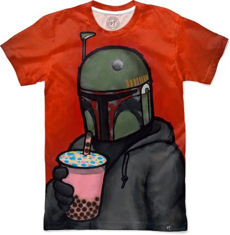 "Luke Chueh T-Shirt Collection by Nuvango - ""Boba"" Star Wars Boba Fett T-Shirt"