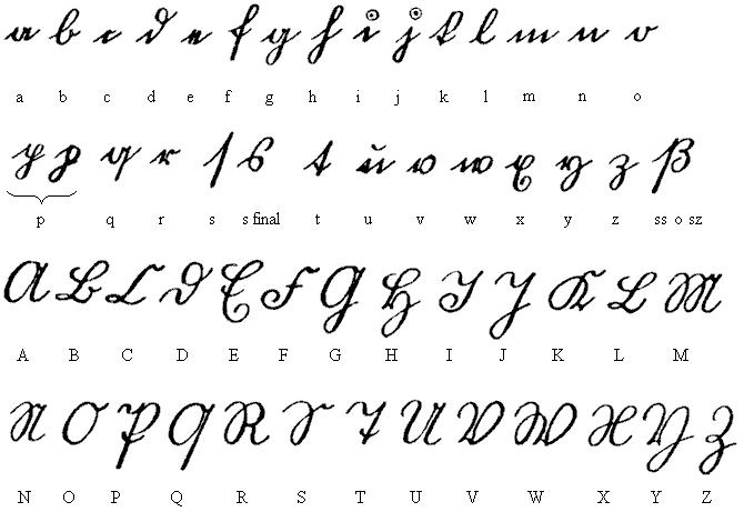 Abecedario en letra cursiva completo - Imagui