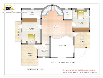 Duplex First Floor Plan Online - 290 Sq M (3122 Sq. Ft.) - February 2012