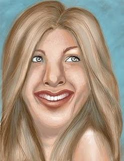 Jennifer Aniston painting