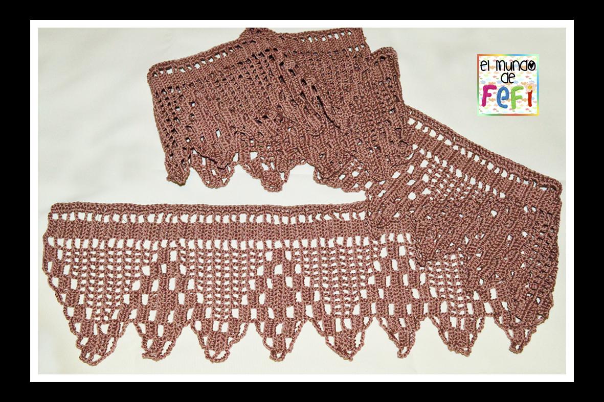 diagrama patrón puntilla al crochet