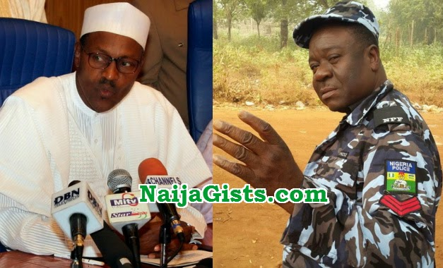mr ibu afraid of buhari