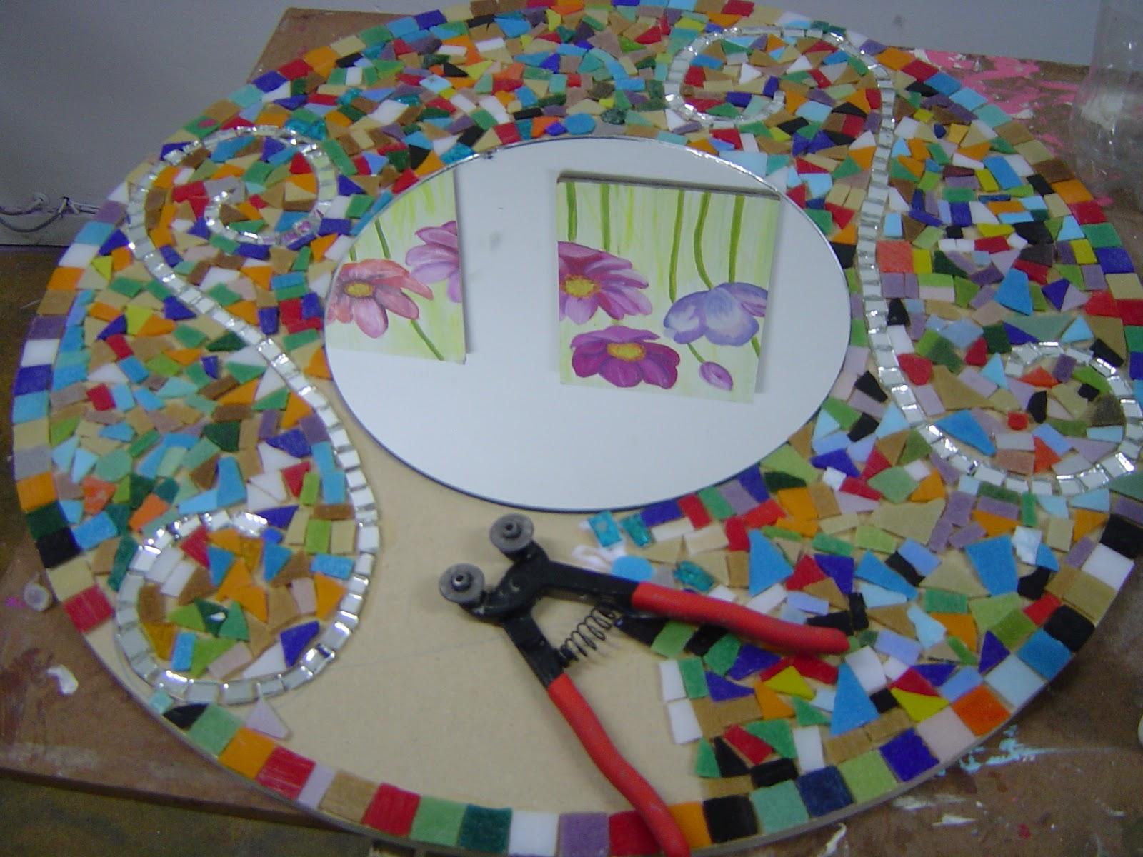 Gwendydecoraci n mosaiquismo espejo trencadis for Dibujos para mosaiquismo