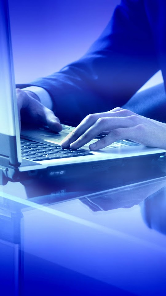 Typing On Laptop Blue Light  Galaxy Note HD Wallpaper