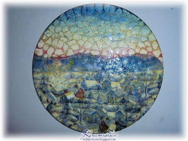 миниатюра из диска и скорлупы