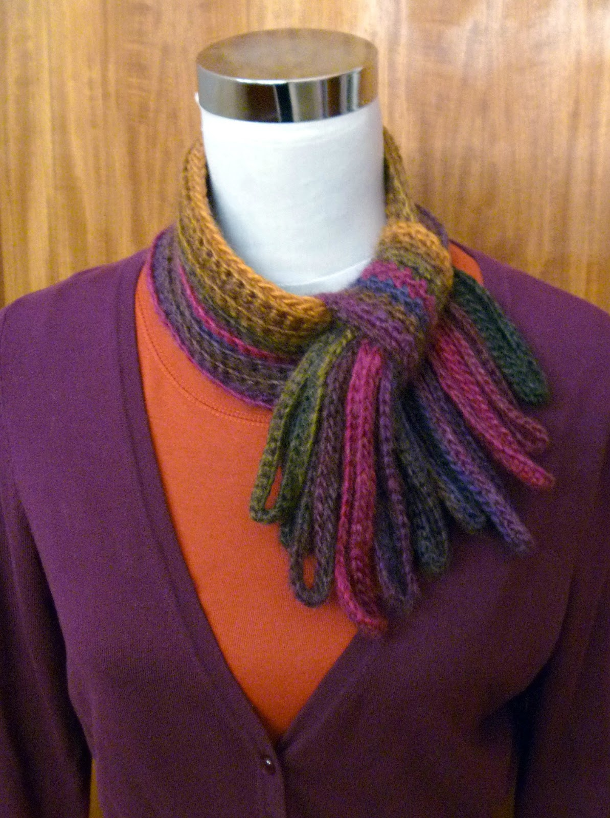 Crochet Scarf Pattern Variegated Yarn : Stitch Story: The Modern Jabot Chunky, an Adventure with ...