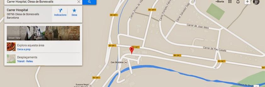 https://www.google.es/maps/place/Carrer+Hospital,+08795+Olesa+de+Bonesvalls,+Barcelona/@41.3465534,1.846047,17z/data=!3m1!4b1!4m2!3m1!1s0x12a4874cacf91b23:0xe616806ce4e3dadb?hl=ca