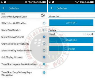 BBM MOD Simple Blue Themes New Versi 2.11.0.18 Apk