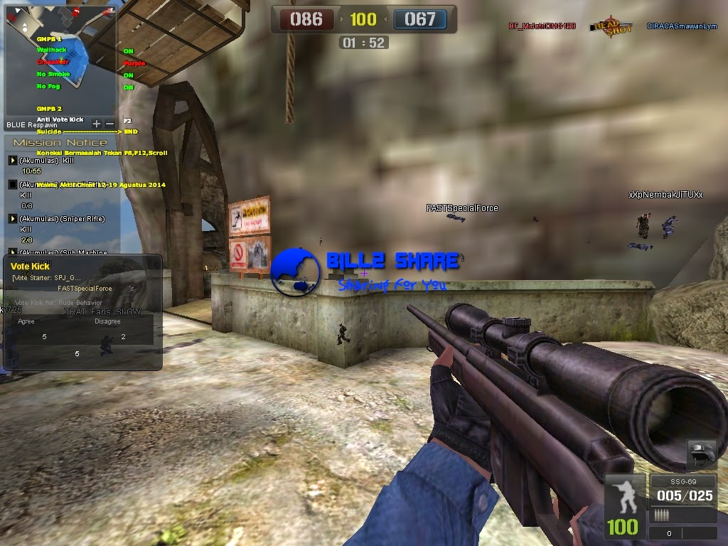 Cheat Point Blank Wallhack + Crosshair + No Smoke + No Fog 24 Agustus 2014