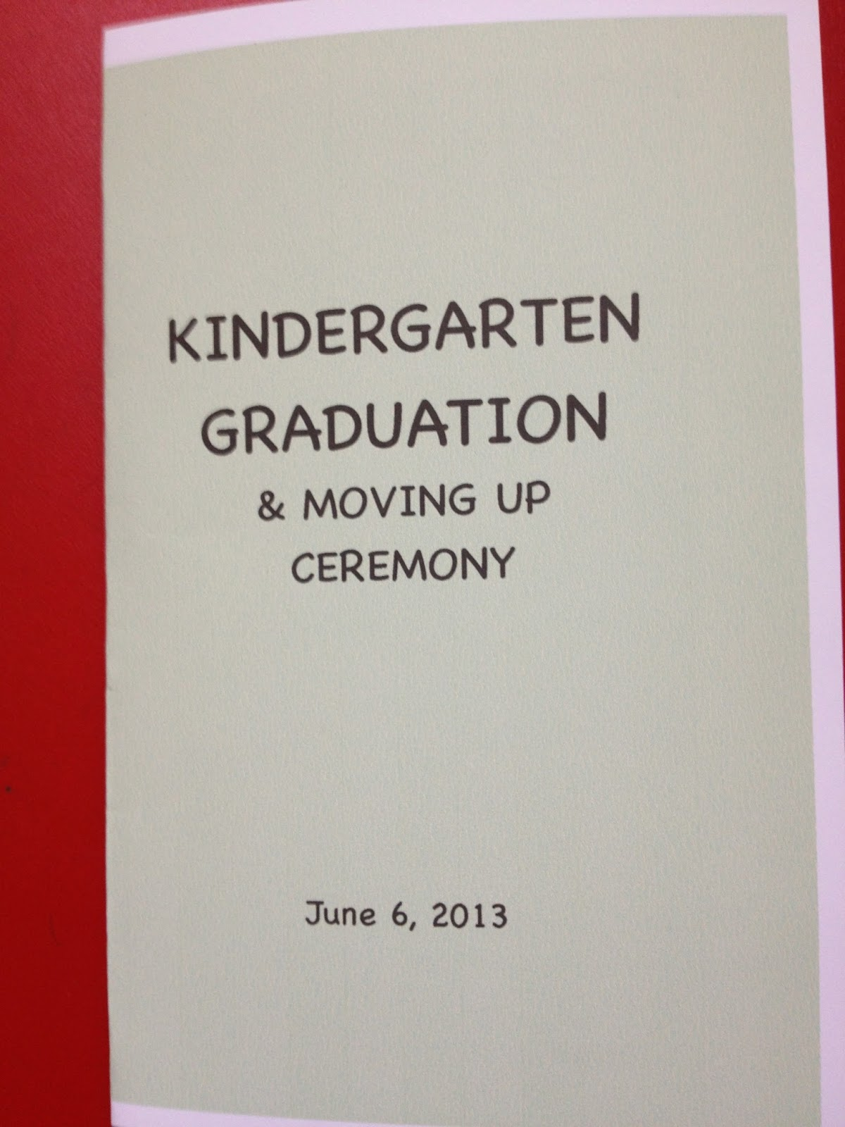 Nice Kindergarten Graduation Program Template Ideas - Examples ...