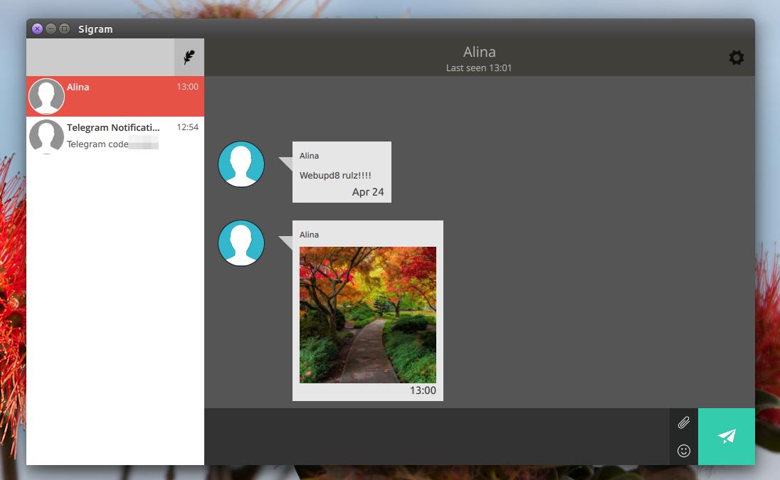 Sigram Telegram Linux client
