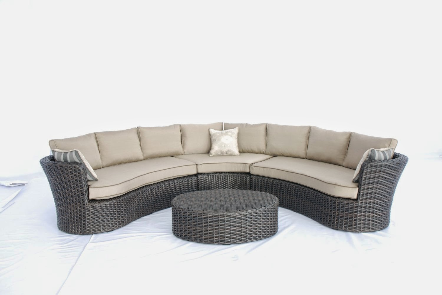 Curved sofa may 2014 for Antigua wicker chaise