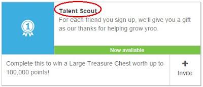 fitur talent scout di yroo