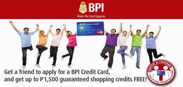 BPI Credit Card: Member-Get-Member (MGM) Promo 2015