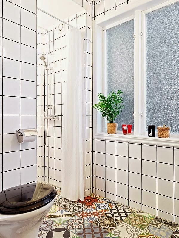 Bathroom Tiles With Dark Grout exellent bathroom tiles with dark grout turns white this may work