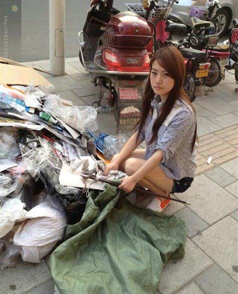Foto Gadis Pemulung Cantik Dari China