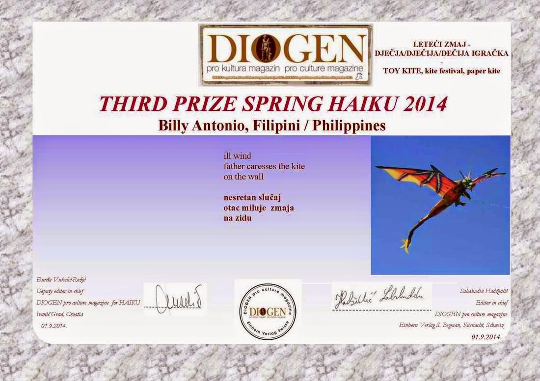Third Prize Spring Haiku 2014