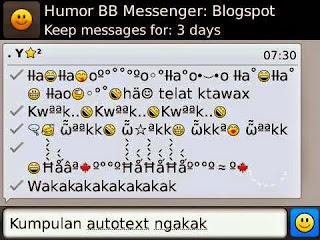 menambahkan fitur auto text BBM