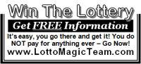 Florida Lotto Magic 1 inch display advertisement