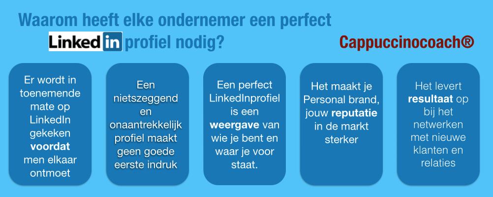 Waarom heeft elke ondernemer een perfect LinkedIn profiel nodig ?