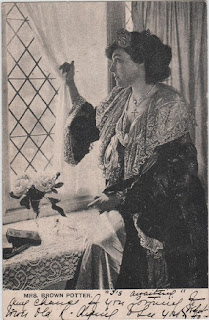 Vintage postcard of Mrs Brown-Potter, c.1904