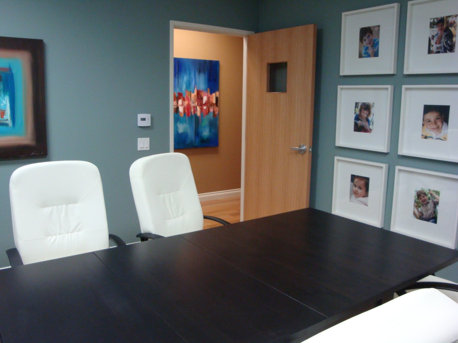 Best paint colors for preschool classrooms - There Will Be A Flat Screen Tv Mounted On The Wall Opposite The Photograph Wall The Photographs Will Eventually Be The Children From The Clinic They Have