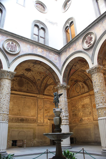 Unique arts design at Piazza della Signoria in Florence, Italy