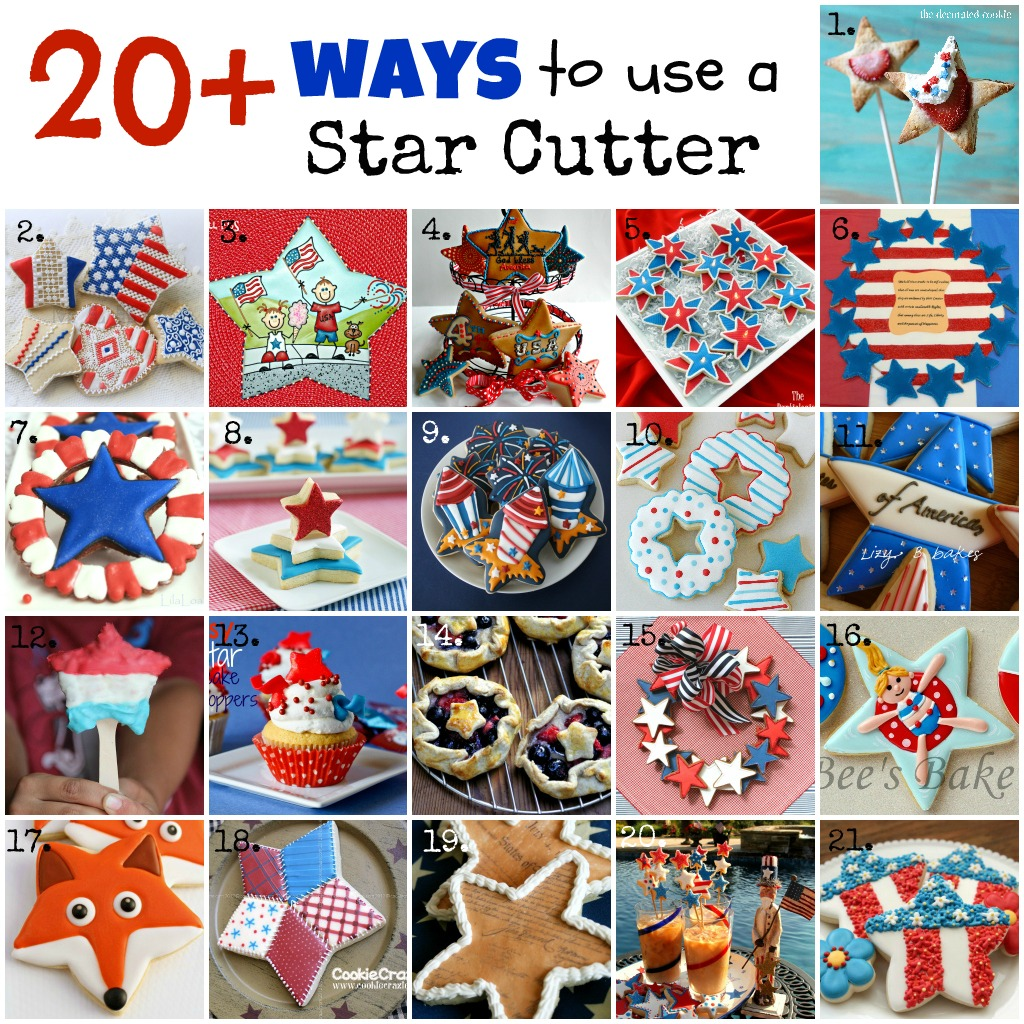 20 projects using a basic star cookie cutter
