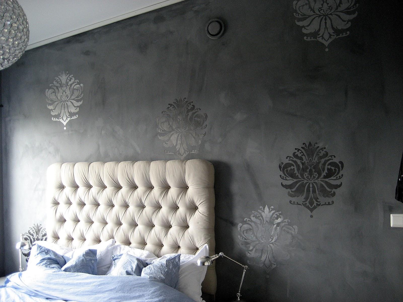 Rosin byggjer reir: DIY: stensilar til veggen- rimeleg alternativ til tapet