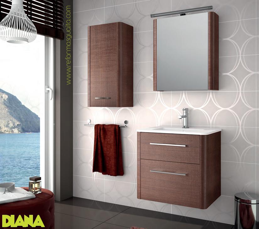 Mueble diana sin esquinas redondeado reformas guaita for Mueble lavabo 50 ancho