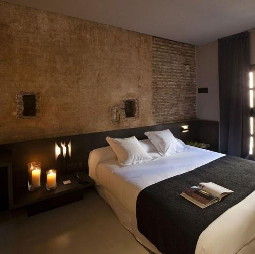 Habitaciones con paredes de piedra  Dormitorios colores y estilos