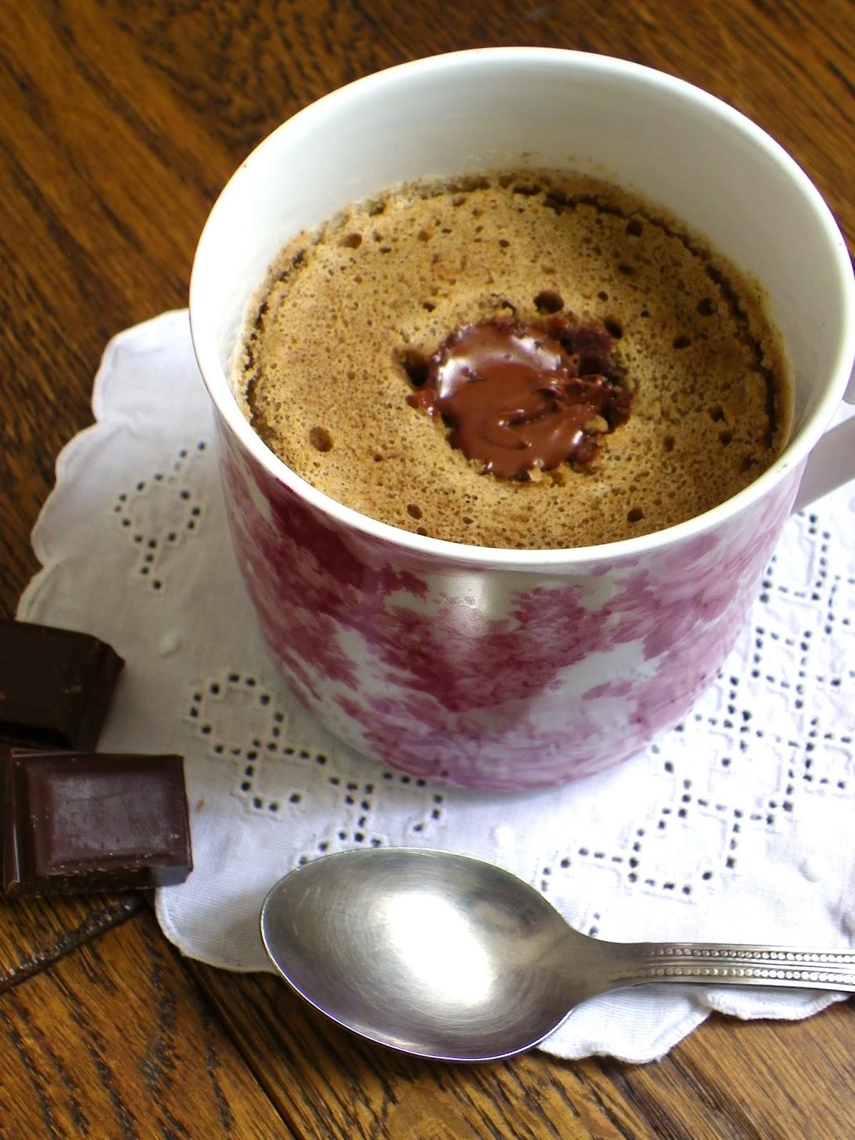 Mug Cake Nature Coeur Chocolat
