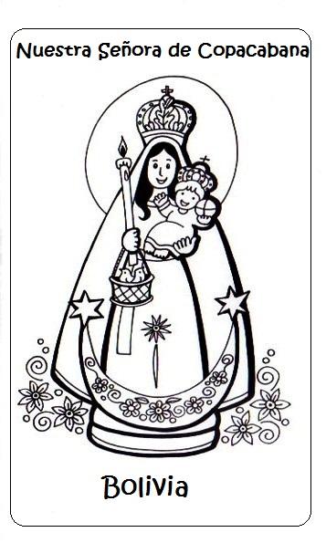 El Rincón de las Melli: Dibujo de Nuestra Señora de Copacabana