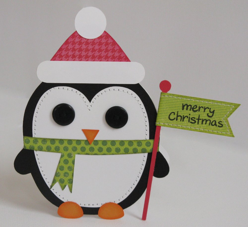 Snippets By Mendi: Day 8- A Penguin Shape Christmas Card