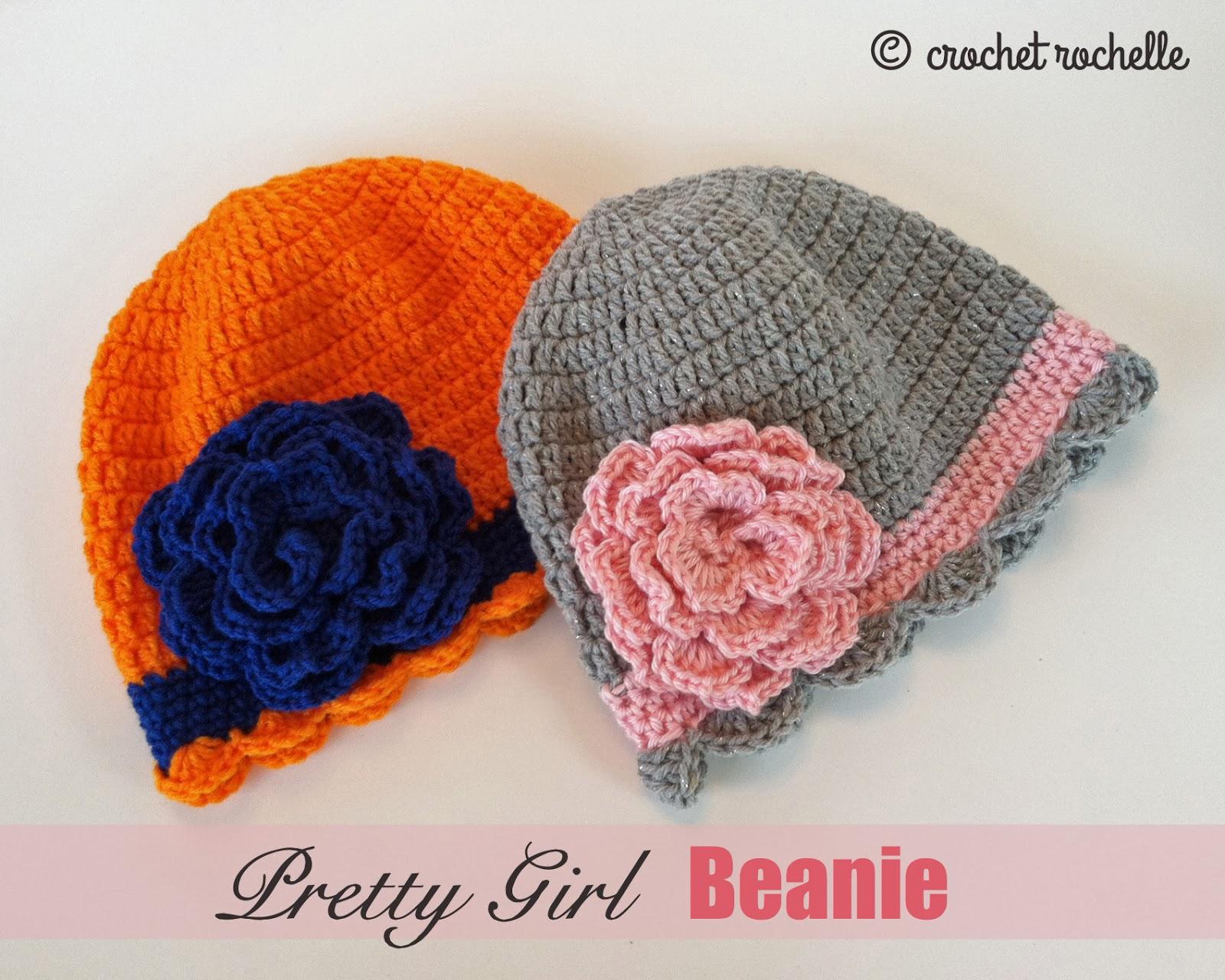 Crochet Rochelle Pretty Girl Beanie