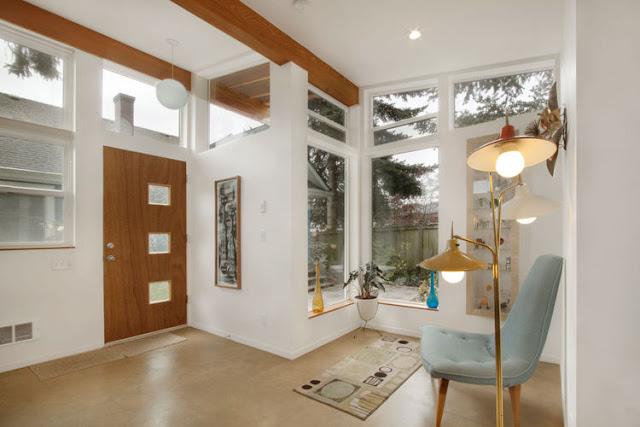 Mid-Century Design Einrichtung eines kalifornischen Studios - luftiges Wohnen und Leben in einem Raum