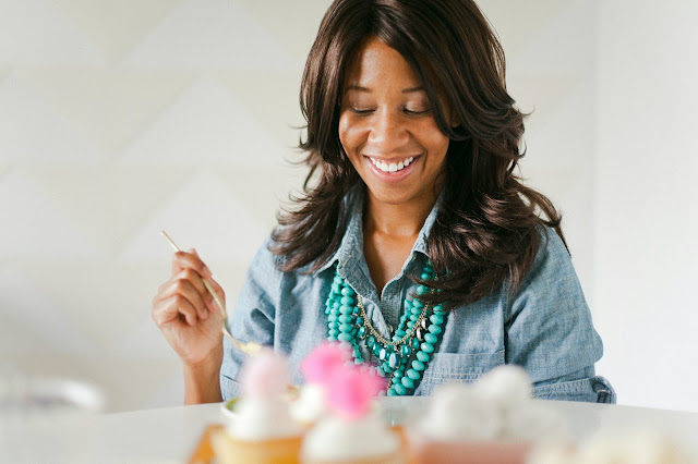 Dessert table designer Shauna Younge sampling sweets | pics: Melissa Oholendt for BFFF