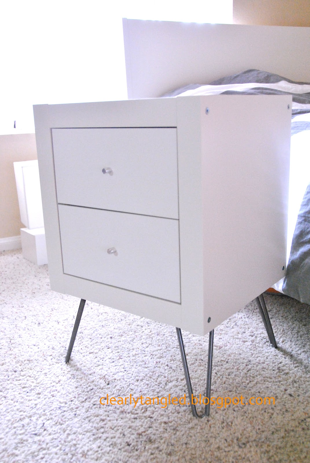 clearlytangled ikea expedit wall shelf nightstand