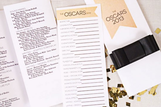 Oscar Party Fiestas  One Charming Party ballots