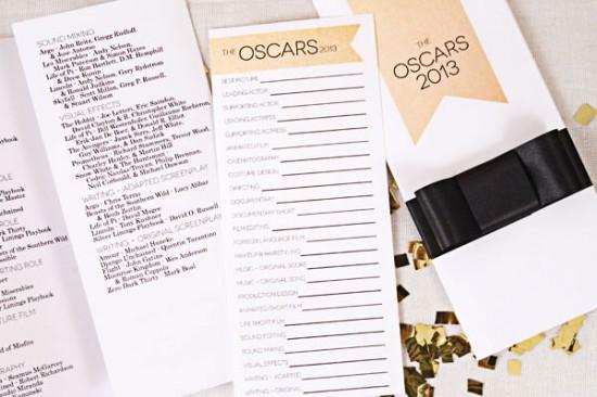 Oscar Party Fiestas  One Charming Party ballots