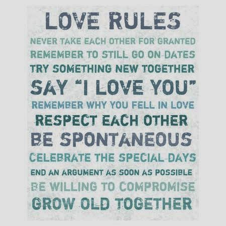 What are The Rules For Love?