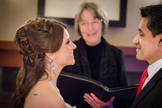 Wedding ceremony officiated by Patricia Stimac, Seattle Wedding Officiant